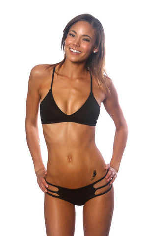 Black Beaded Sport Top