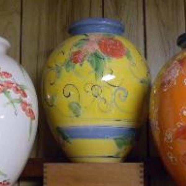 Hand Painted Vases From Provence France
