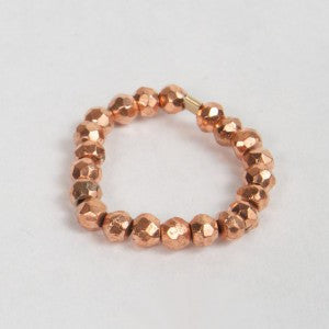 Rose Gold Nugget Stackable Ring