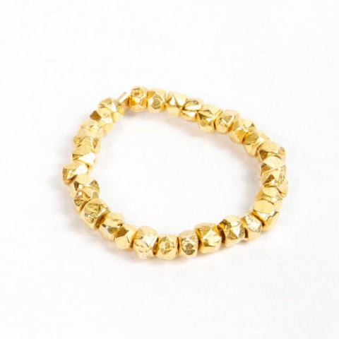 Gold Nugget Stackable Ring