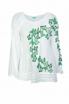Skull Butterfly Swing Top