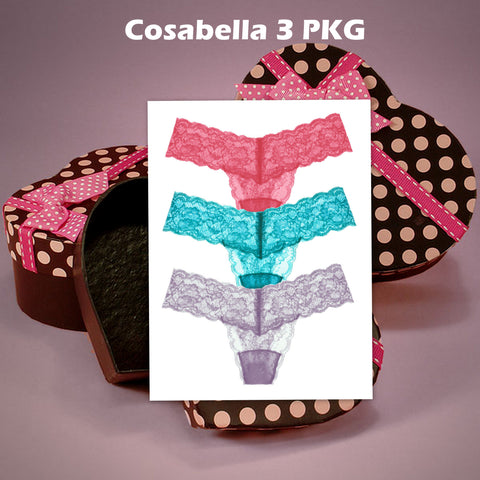 Cosabella 3 Pack in Heart Gift Box