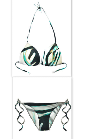Caribe Push Up Triangle Top & Lowrider String Bikini Bottom