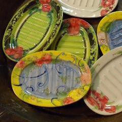 Hand Painted Soap Dishes from Provence France