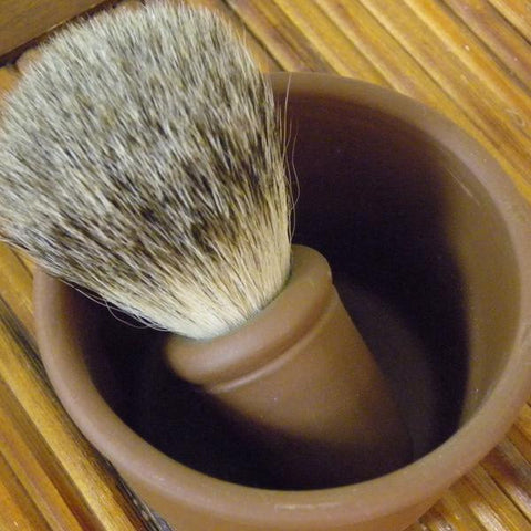 Redware Shaving Bowl