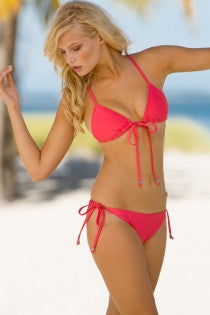 Kissing Fish Tie Front Bikini