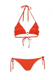 Letarte Orange Triangle Bikini