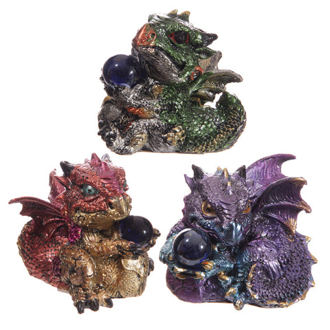 Baby Crystal Ball Cute Dragon Figurine