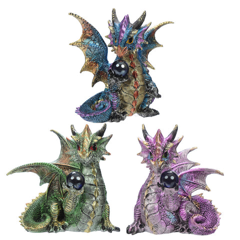 Crystal Soothsayer Enchanted Nightmare Dragon Figurine