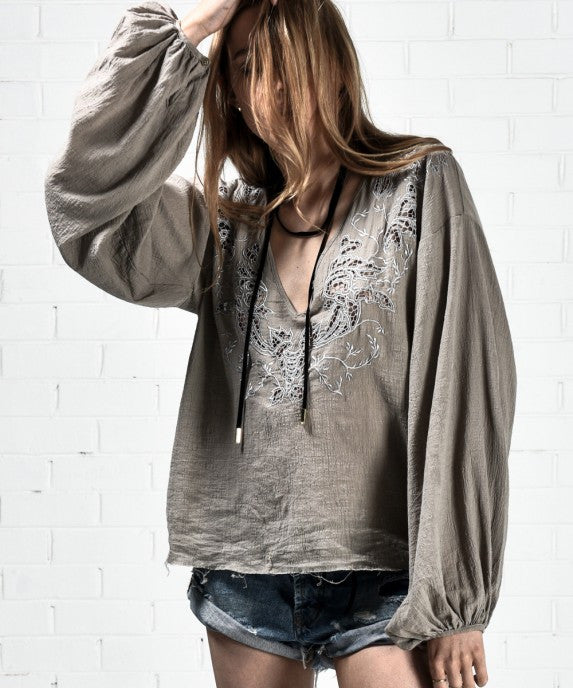 Honey Rider Hand Cut Top by One Teaspoon