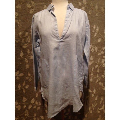 Linen Shirt with Two Pockets by Dolma