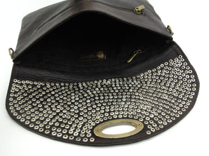 Amira Studded Leather Crossbody by One Love Global Imports