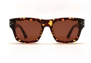 Enki Aetius sunglasses in brandy tort with copper lenses