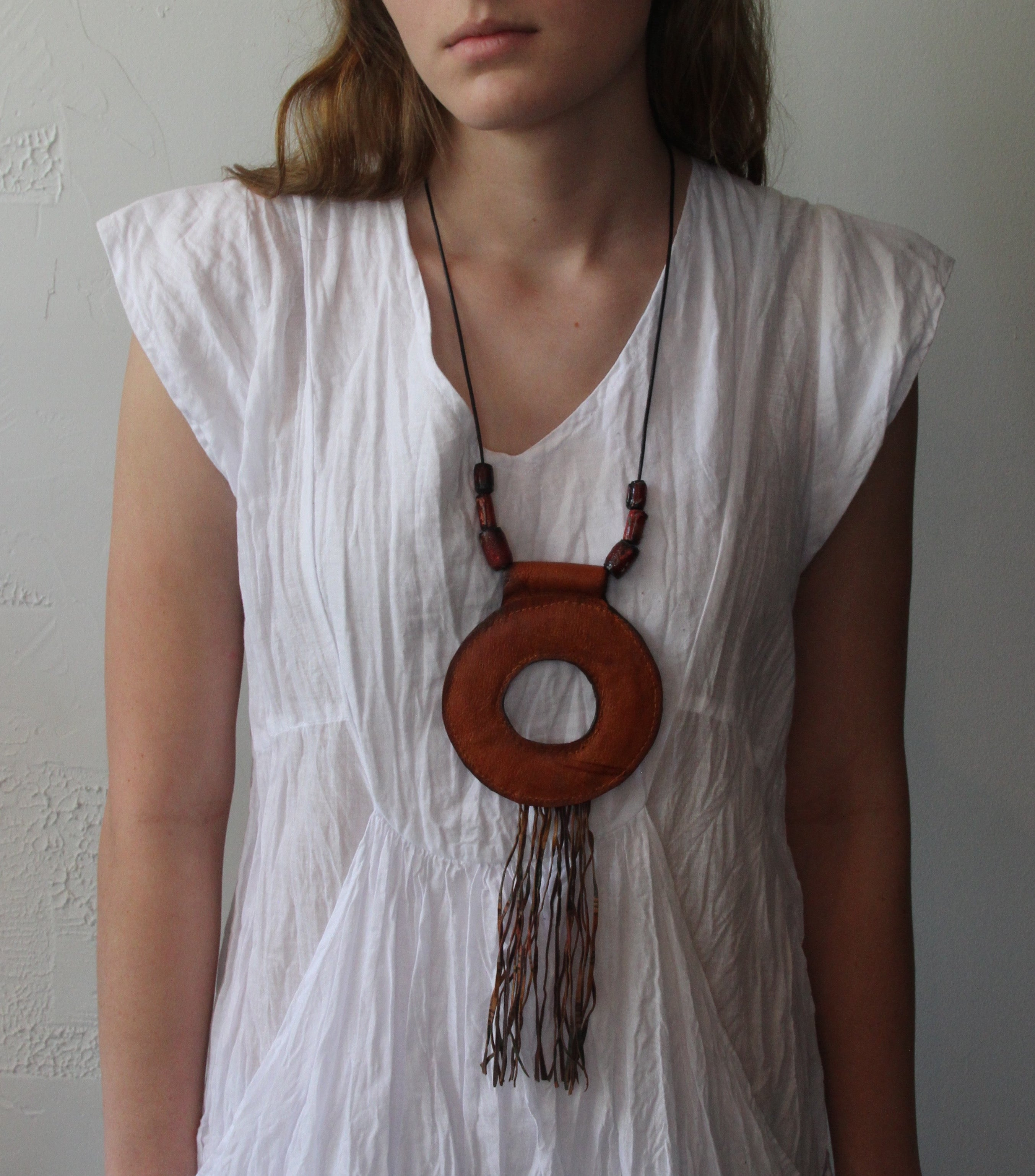 #3 Leather Circle Necklace