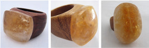 Citrine & Ancient Oak Wooden Ring