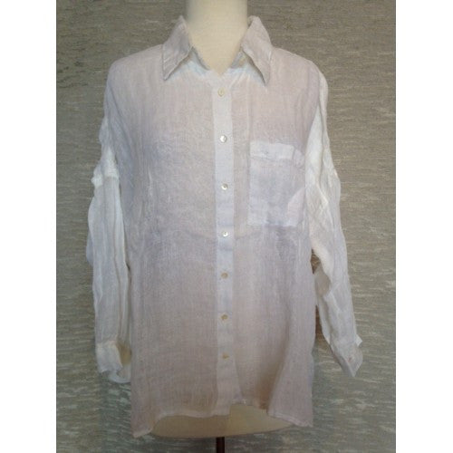 Linen Shirt with One Pocket by Dolma