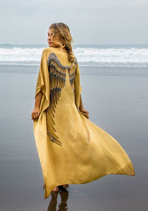Short Long Silk Angel Wing Kaftan by Warriors of the Divine