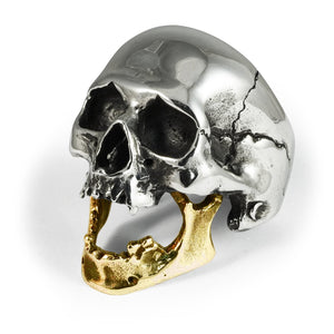Golden Bite Skull Ring