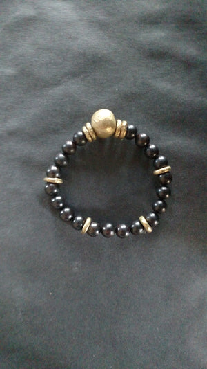 Spring Collection - Ebony Wood / Amazonite Bracelet by Allie & Me
