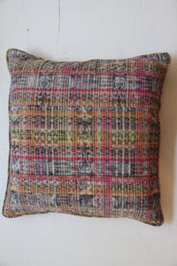 Chiapas Throw Pillow | Pink & Yellow