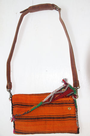 #10 Oversized Stripe Kilim Crossbody