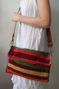 #6 Oversized Stripe Kilim Crossbody/Clutch