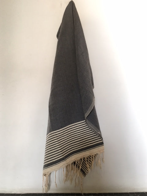 Grey & Cream Fouta by Nomad Chic