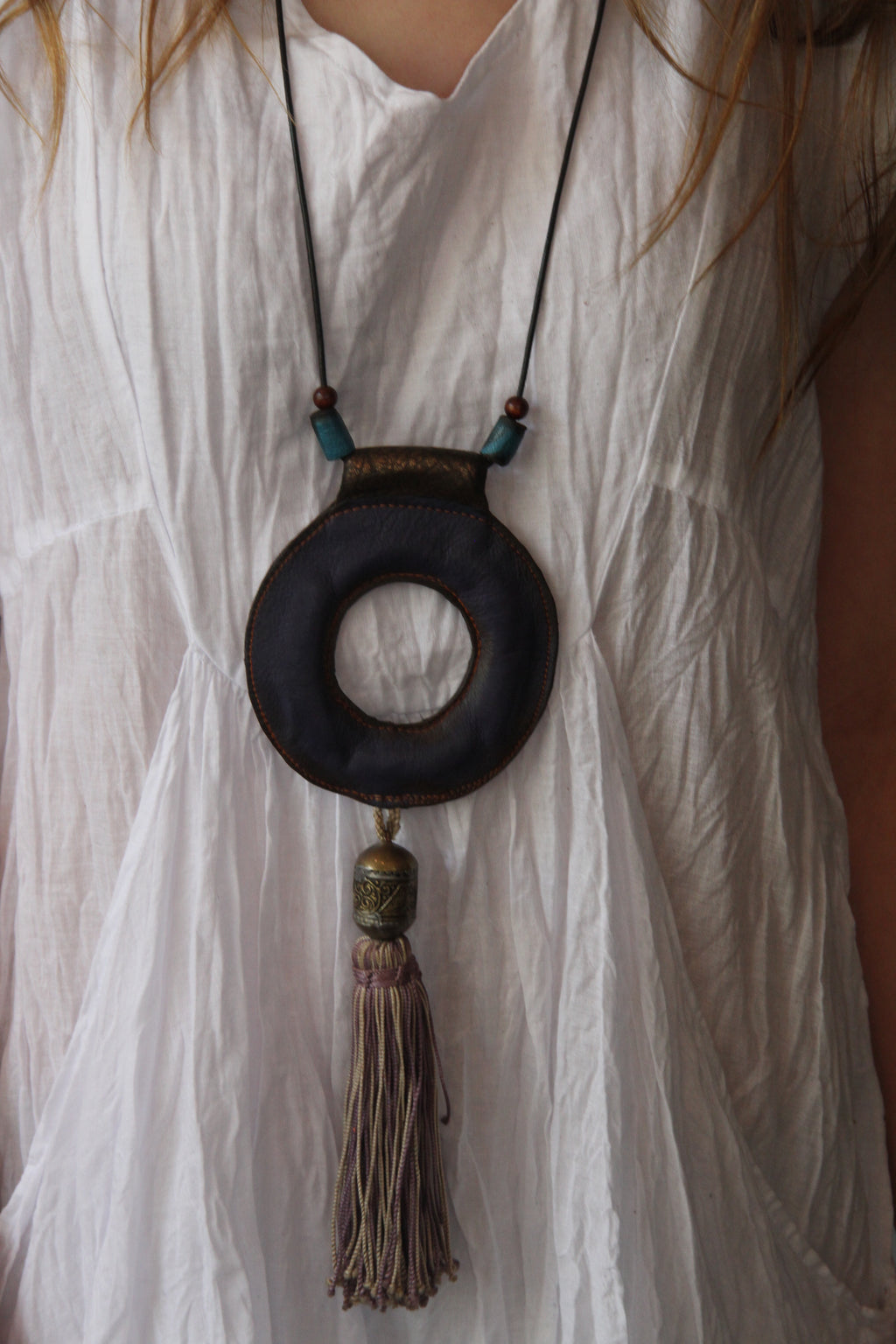 #4 Leather Circle Necklace