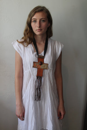 #1 Leather Cross Necklace