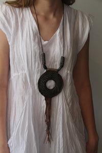 #5 Leather Circle Necklace