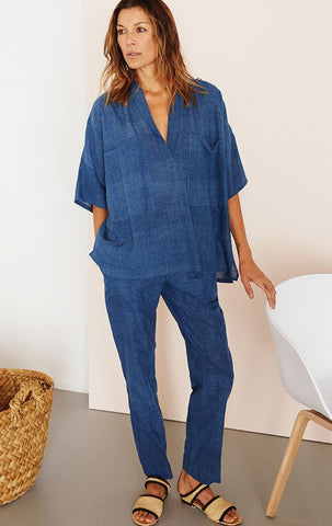 Indigo Two Pocket Shirt by Two New York