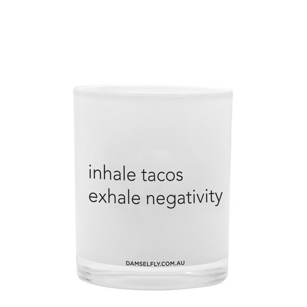 Inhale Tacos Candle