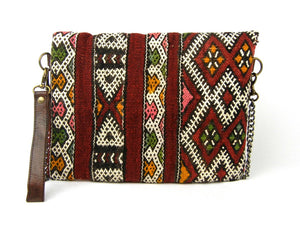 Kilim Clutch - Chainlink Crossbody #1