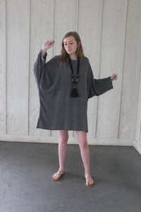 Black Stripe Short Kaftan