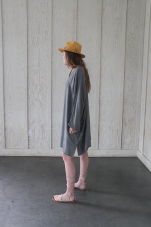 Tanjier Grey Short Kaftan