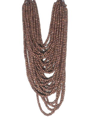 Mona Island Layered Wood Bead Necklace