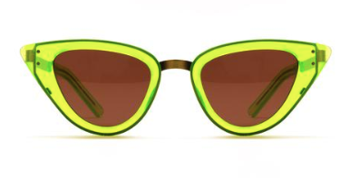 Monimus Fluro Green with Copper Lenses