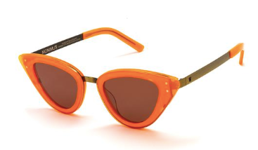 Monimus Fluro Orange with Copper Lenses
