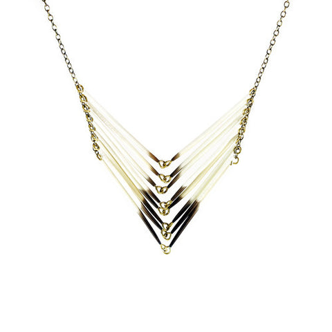 Porcupine Chevron Necklace by Astali
