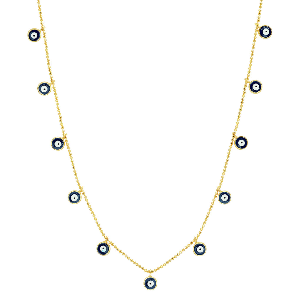 Necklace with Evil Eye Dangles