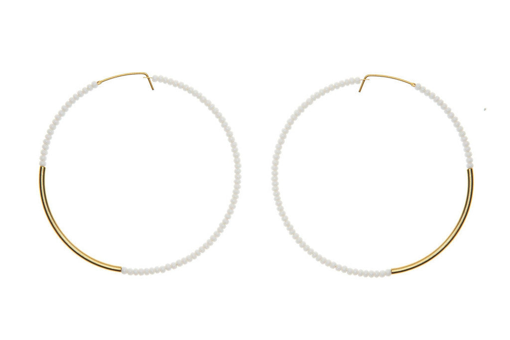 Extra Large White Gold Earring