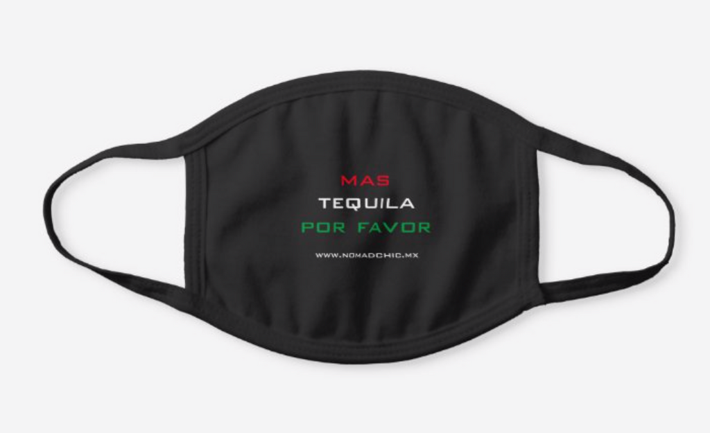 Mas Tequila Por Favor Face Mask