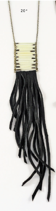 Porcupine Quill Fringe Necklace