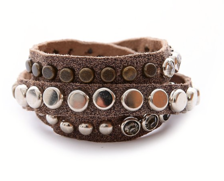 Leather Wrap Bracelet by Lynn Tallerico