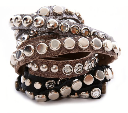 Rawhide Leather Wrap Bracelet by Lynn Tallerico