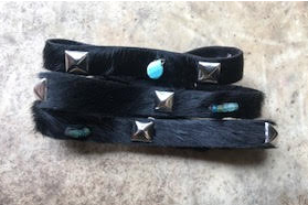 Wrap Leather/Turquoise Bracelet by Wendy Verlaine Designs