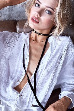 Black Whisper Necklace by Monsieur Blonde