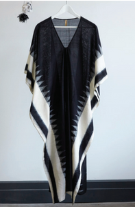 Black & White Caftan by Two New York