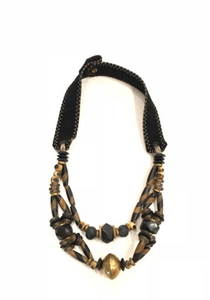 Woven Classic Necklace | Redwood + Mushroom