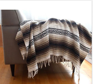 Mexican Black/Tan Blanket